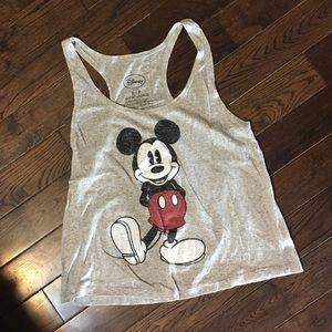 Size S Disney Mickey Mouse racer back tank